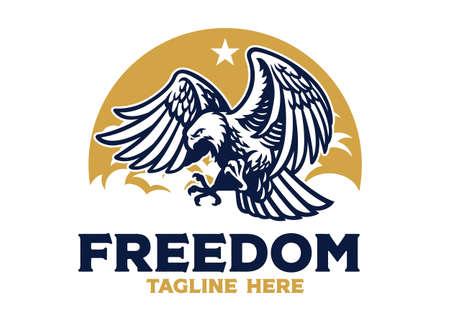 vector of freedom eagle vintage logo