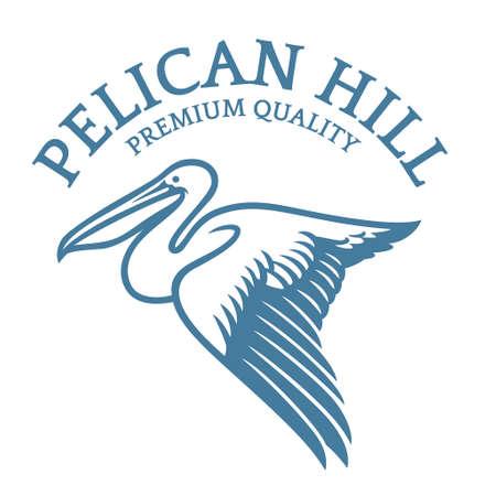 Flying Pelican in elegant style