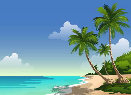 Tropical beautiful white sand beach