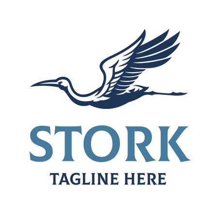 Stork bird elegant style Vettoriali