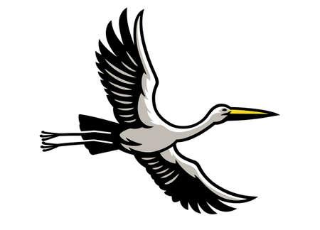 Flying Stork bird