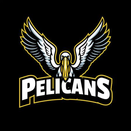 Pelican Mascot Sport Style