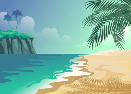 Tropical Summer Beach Vettoriali