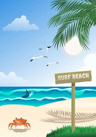 Tropical Surfing Beach