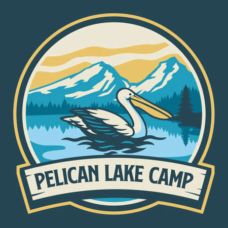 Pelican vintage camping badge