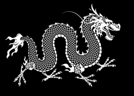 hand drawn style of asian dragon