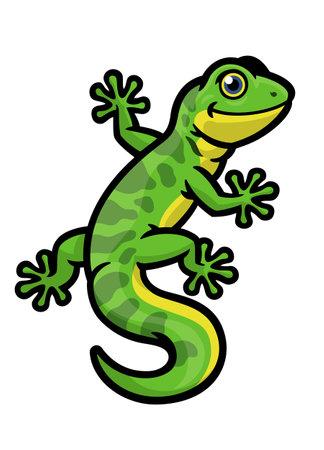 Vector of Cute Character of Gecko lizard