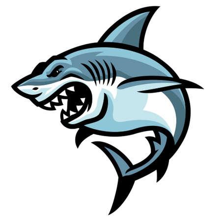 Vector of Shark Fish Mascot 矢量图像
