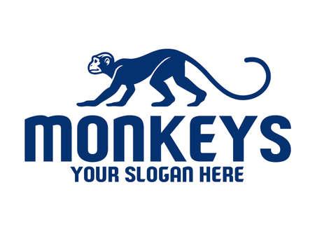 vector of Simple monkey