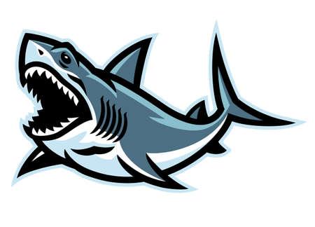 vector of Angry Shark  Mascot 矢量图像