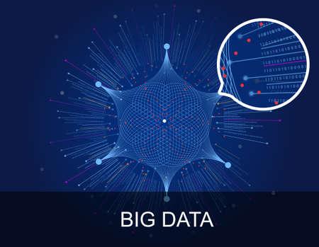 Large data information visual material