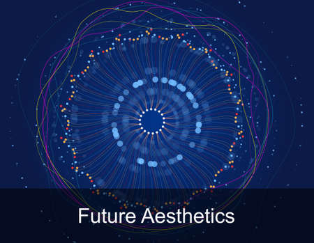 Future science and technology vision of large data Banque d'images - 102315744
