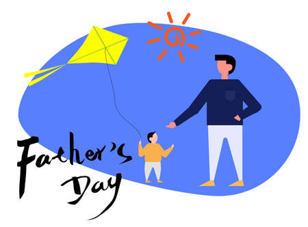 Father's day illustration Illustration