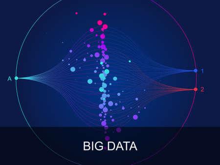 Visualization of large data docking integration processing