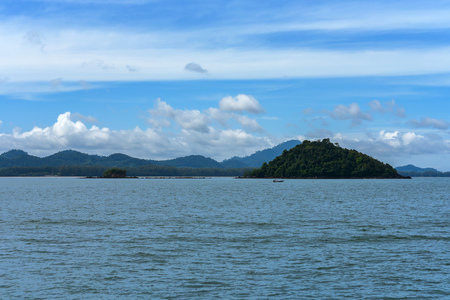 Island view In the Andaman Sea, Trang province, Thailand. Stock Photo