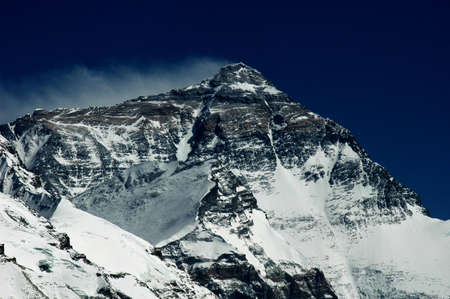 lifeless: Scenery of Mount Everest in Tibet China