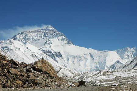 Scenery of Mount Everest in Tibet China Stock Photo - 8494327