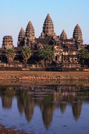 angkor thom: Landscape of the famous Angkor Thom in Siem Reap,Cambodia