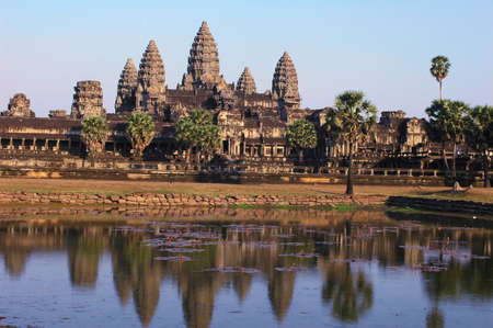 siem: Landscape of the famous Angkor Thom in Siem Reap,Cambodia