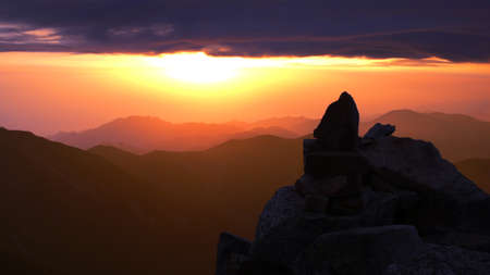 Landscape of sunrise on the top of the mountains Stock Photo - 8518734
