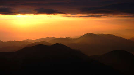Landscape of sunrise at the top of mountains Stock Photo - 8547424