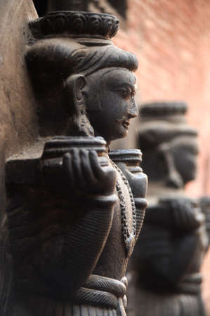 Landmark of historical sculptures of buddha in Kathmandu Nepal Stock Photo - 8547431