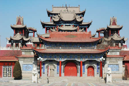 Landmark of a historical buddhist temple in China photo