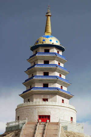 Landmark of a Mongolian pagoda in Sinkiang China Stock Photo - 8575721