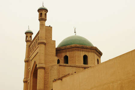 Landmarks of famous local Islamic mosque in Sinkiang China photo