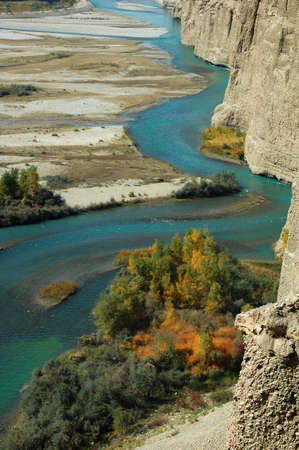 Landscape of a green river in autumn Stock Photo - 8575748