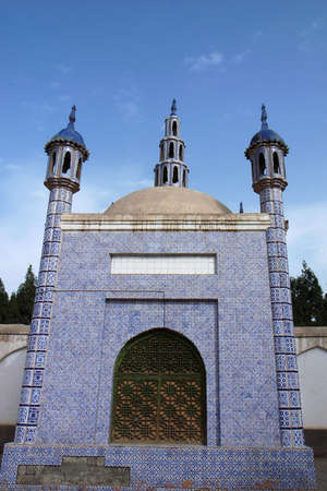 Landmarks of Islamic mosque in Sinkiang China photo