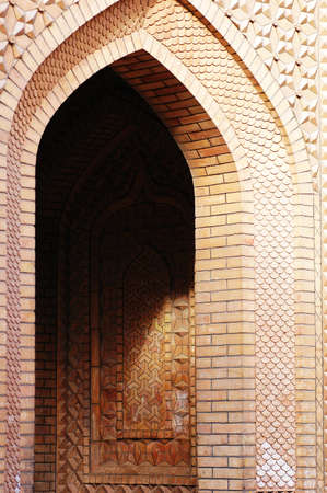 islamic pattern: Brick arch of a typical Islamic building Stock Photo