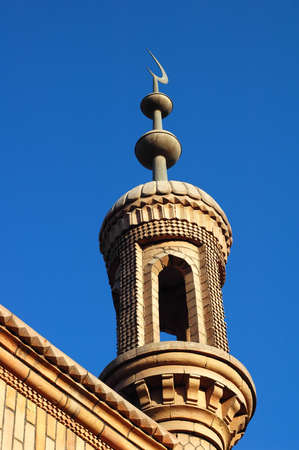 Landmark of a famous Islamic mosque in Sinkiang China photo