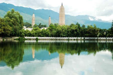 ダリ中国で有名な 3 つのパゴダのランドマーク