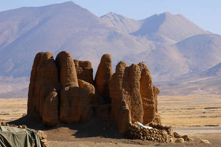 relics: Relics of an ancient castle in Tibet Stock Photo