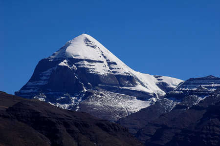 himalaya: Landscape of the famous holy Mount Kailash in Tibet Stock Photo