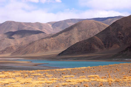 Landscape of mountains in the highlands of Tibet Stock Photo - 8724084