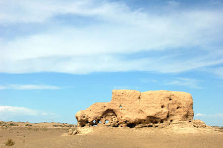 ancient relics: Relics of an ancient castle in the desert