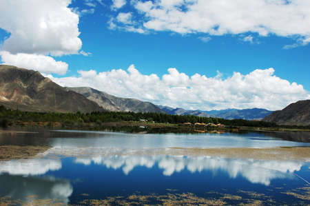 Landscape of mountains and river in the rural areas Stock Photo - 9229063