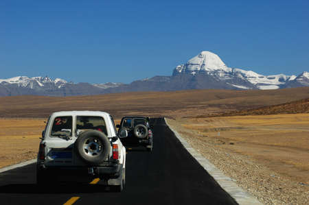 Traveling in the highlands of Tibet photo