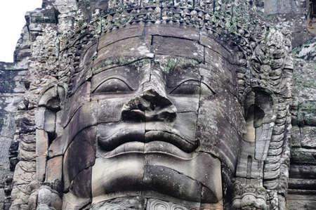 Landscape of historical religious ruins at Angkor Wat,Cambodia photo