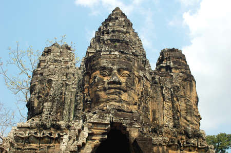 temple tower: Landscape of Angkor ruins at Siem Reap, Cambodia