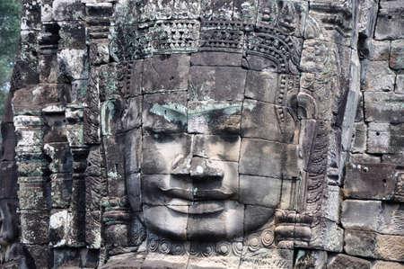 Landmark of giant buddha statue at Angkor, Cambodia Stock Photo - 9803292