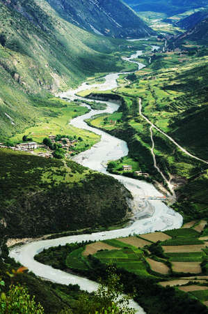 Landscape of a river in the green valley Stock Photo - 10054420