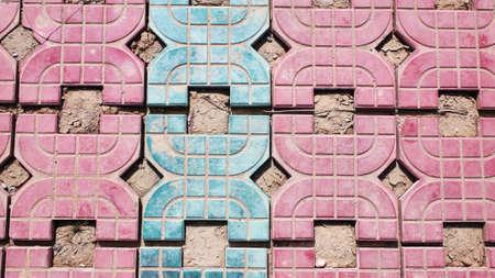 Fußboden Aus Backsteinen ~ Closeup blick auf fußboden aus ziegelsteinen lizenzfreie fotos
