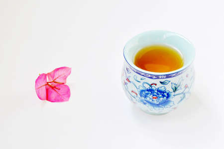 teaset: Traditional Chinese teaset on a white background