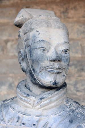 Famous ancient terracotta warriors in Xian, China