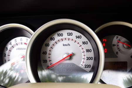 Closeup of a car dashboard in the sunlight Stock Photo - 10831901