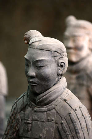 The famous terracotta warriors in Xian China