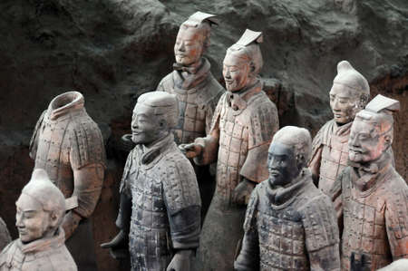 imperialism: The famous terracotta warriors in Xian China